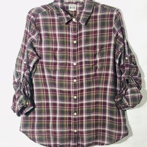 Converse One Star Plaid Button Down